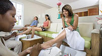 Women Receiving Pedicures